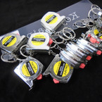 Handy Silver 3 Ft Tape Measure Keychains 12 per pk .56 each