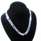 "18"" All Silver Fashion Heavy Chain Necklaces  .60 each"