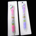 """7"""" 2 Color Ink Unicorn Pens 12 per pk .56 each"""