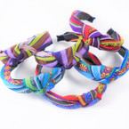Tribal Print Fashion Headbands w / Knot  Mixed Prints .54 each