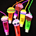 "4"" Sweet Treat Theme Glitter Fruit Lip Gloss 12 per pk .56 each"