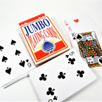 "3"" X 5"" Plastic Coated Jumbo Playing Cards 12 decks per bx .75 each deck"