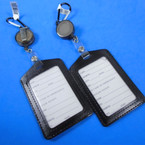 "4"" All Black  Clip On Retractable ID Holder  (vertical) .56 ea"