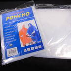 Waterproof Emergency Rain Poncho All Clear 12 per pk .56 each
