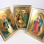 "5"" X 7"" Mixed Style Religious Picture Frames 12 per pk $ 1.00 ea"