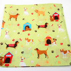 "21"" Square New Dog Theme Print  Bandana 12 per pk .54 each"
