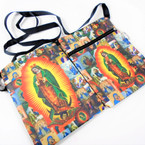"5"" X 7"" Dbl Side Printed Guadeloupe Theme Bag w/ Strap 12 per pk .60 each"