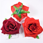 "3"" Multi Use Flower w/ Clip 2 color red's Like Roses 12 per bx .56 each"