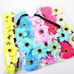 Trendy Flower Headbands Asst Colors Only .52 each