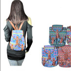 Special Tribal Print Back Packs Mixed Colors 12 per pk $ 2.50 each