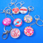 DBL Sided Glass Keychains w/ MOM Theme Mix Styles  .58 each