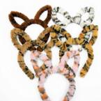 Trending Fury Animal Print Rabbit Ear Novelty Headbands  mixed colors .58 each