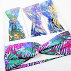 "Trendy 3""  Tropical Print Stretch Headbands 12 per pk .54 each"
