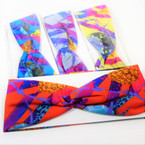 "3""  New Trendy Print Stretch Headbands 12 per pk .54 each"