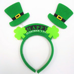 Happy  St. Patrick's Day Novelty Headbands 12 per pk .65 ea