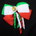 "5"" 3 Color Mexico Theme Gator Clip[ Bows w/ Curly Ribbons .54 each"