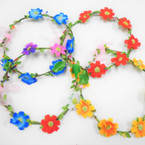 Asst Color Flower Hair Garland/Halo 12 per box (1137)  .56 each