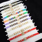 Macrame Bracelet w/ Cry. Beads & Cry. Stone Elephant 12 per pk .54 each