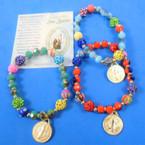 Multi Style Beaded Bracelet w/ Gold San Benito Charm  .54 each