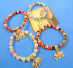 Multi Style Beaded Bracelet w/ Gold Elephant Charm  .54 each