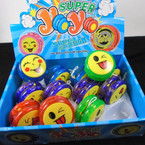 "2"" Light Up Emoji Yoyo 12 per display bx .50 each"