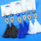 "3.5"" Eye of Protection Tassel Fashion  Earrings   .54 per pair"