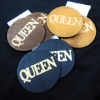 "2.75"" Wood Fashion Earrings QUEEN 3 colors .54 per pair"