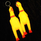"6"" Squeakie Squeezey Crazy Chicken Keychains .60 each"