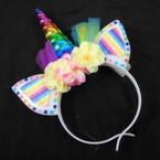 "7"" X 9"" Light Up Unicorn Headbands w/ Lace & Flowers $ 1.25 each"