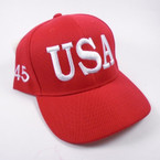 USA 45 Flag Baseball Caps All Red  sold by pc $ 3.00 per hat