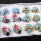Value Pack Rings Southwest Look  As Shown 36 pc bx .20 each ring