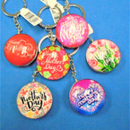 DBL Sided Glass Keychains w/ MOTHER's Day  Theme Mix Styles .56 each