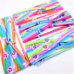 "Trendy 2.5""  Shark Theme Print Kids Stretch Headbands Multi Colors 12 per pk .54 each"