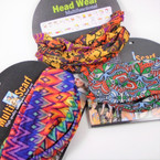 Multifunctional Scarf/Headwear African Clothes Print Theme .58 each