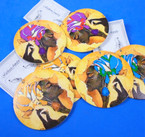 "2.75"" Round Black History Photo  Wood Earring   .54 per pair"
