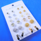 Value Pack 12 Pair Earrings As Shown (2244) .54 per set