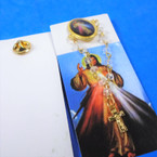 "3"" Divine Mercy Tac Pin w/ Chain & Dangle Cross 12 per pk .54 ea"