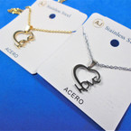 Gold & Silver Stainless Steel LOVE Pend. Necklace   12 per pk  .58 each
