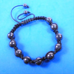 Macrame Style Hematite Fashion Bracelet (08) .58 each