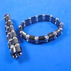 Hematite & Silver Bead Fashion Bracelet (17) .54 each