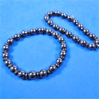 Hematite Round  Bead Fashion Bracelet (19) .54 each