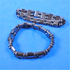 Hematite Fashion Stretch Bracelet w/ Flat Mini Beads (16) .58 each