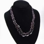 "18"" Hematite Necklace as shown12 per pk (09)  .75 each"