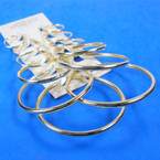 6 Pair Multi Size Gold Hoop Earrings .54 per set