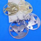 "2"" Gold  & Silver Laser Cut Butterfly Fashion Earrings Lightweight  .54 per pair"