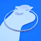 1 Line Silver Mini Rhinestone Stretch Anklets & Toe Ring Set  12 sets per pk  .55 each