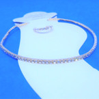 1 Line Gold Mini Rhinestone Stretch Anklets & Toe Ring Set  12 sets per pk  .55 each