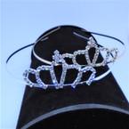 Gold/Silver Rhinestone Tiara Headbands Clear Stones (009) .65 each