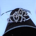 Gold/Silver Rhinestone Tiara Headbands Clear Stones (005) .65 each