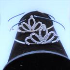Gold/Silver Rhinestone Tiara Headbands Clear Stones (010) .65 each